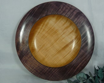 Maple Platter with colored rim