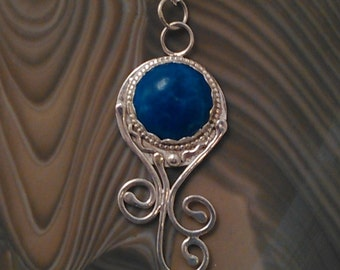 Sterling Necklace with Round Sodalite
