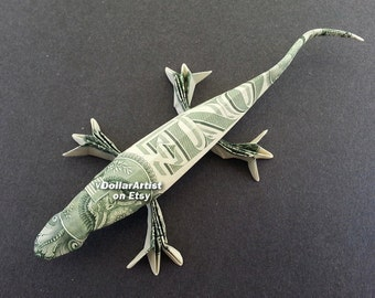 LIZARD Money Origami - Dollar Bill Cash - Animal - Reptile