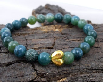 Bracelet Heart and Agate