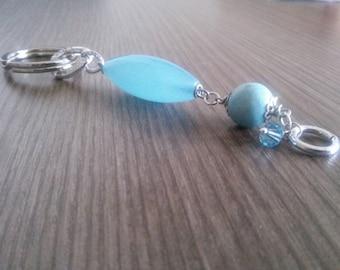 Blue Jade keychain