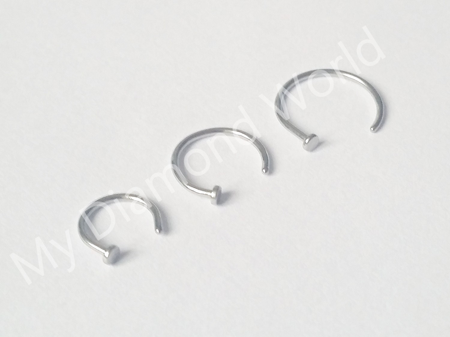 20g handmade nose ring hoop simple nose ring nose stud