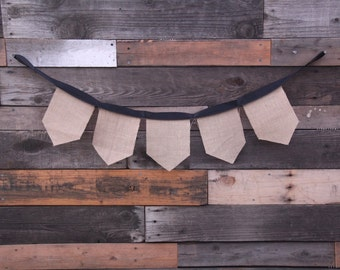 Burlap Banner with Ribbon