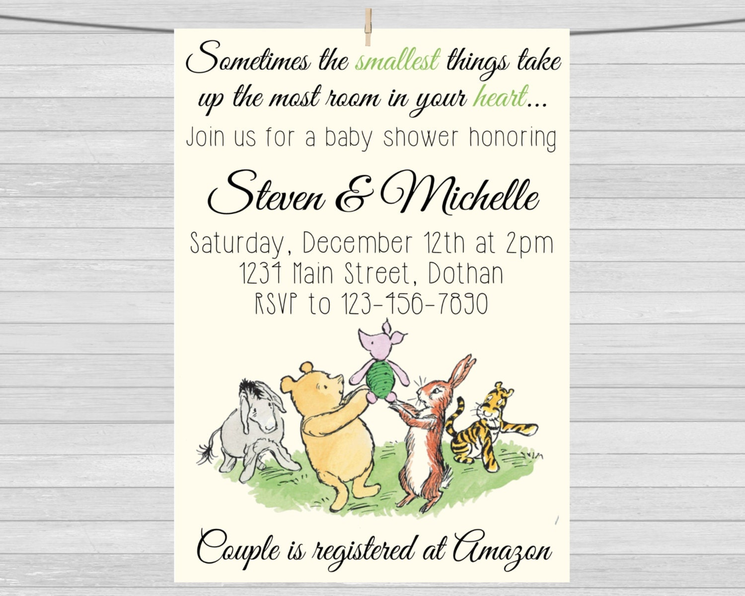 classic winnie the pooh baby shower by maopartyprintables on etsy