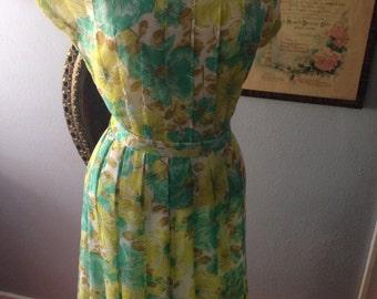 Vintage 1960's floral print dress.