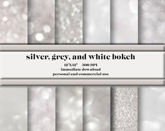 Silver, Gray, White Bokeh