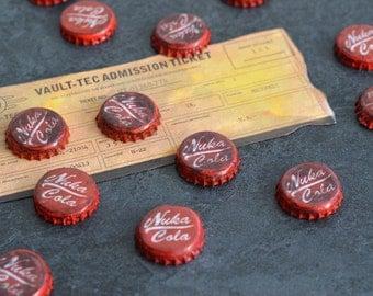 Set of 10 Nuka Cola Caps - Fallout