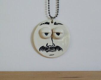 Mustache Pendant + chain