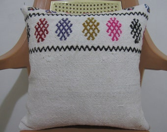 Tribal Cotton Kilim Pillow 6 x 16 Vintage Turkish Pillow Home Decor Turkish Modern Bolster Bohemian Pillow Cover