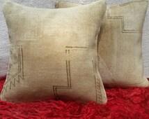 set rug pillow,two pillow cover,antigue rug pillow,pastel color rare design pillow,sofa decorative pillow,home pillow '18x'18 inc s21