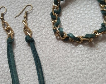 Sets of earrings and bracelet