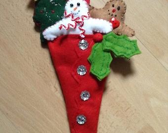 Christmas decoration   Christmas cone snowman gingerbread man