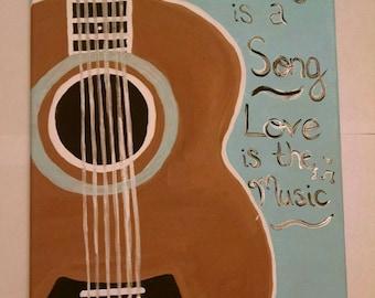 Guitar/Music Canvas