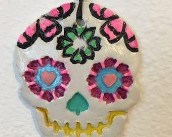Sugar skull ornament, Day of the Dead ornament, Día de los Muertos, Christmas ornament, sugar skull decor