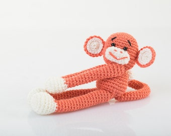 Crochet toy childrens toy monkey knit toy monkey knit baby toys baby toy stuffed animal toy baby gift christmas gift