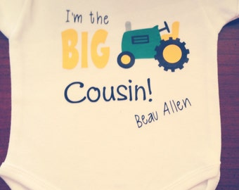 Big Brother/Little/Cousin Shirts With Tractor