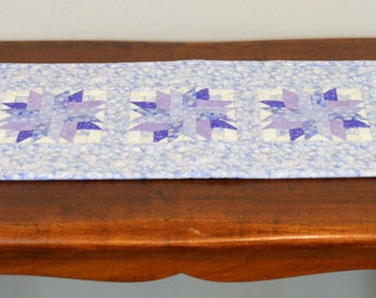 Purple Flower Table Runner