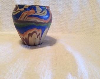 OZARK ROADSIDE TOURIST Pottery Vase Multi Colored Nice