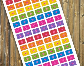 Happy Mail Envelope Planner Stickers