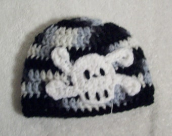 Newborn Baby Boy Skull and Crossbones Hat