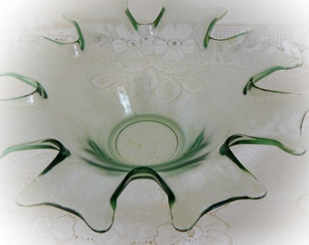 Vintage glass bowl flower
