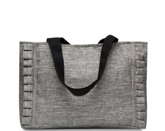 Light Grey canvas Tote Bag