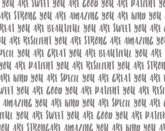 Affirming Words Poster Instant Download Encouragement Printable Print Gift Inspirational Positive Affirmation Brave Motivational Positive