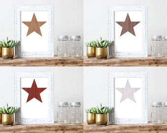 Wooden Star Wall Decor wooden stars | etsy