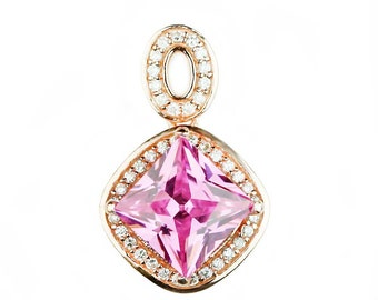 Very nice pendant in sterling silver 925 set with Cubic zirconium 5A high quality