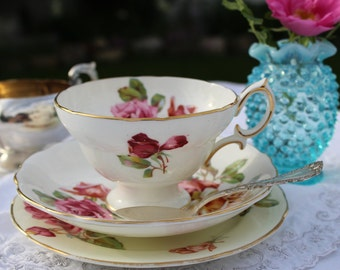Hammersley & Co. (England): trio; Cup, saucer and plate