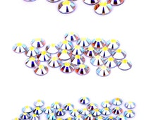 Swarovski 80 Piece Hot Fix Crystals Combo Pack, AB by Create Your Style~ Size 20- 10 stones, Size 16- 26 stones, Size 12- 44 stones