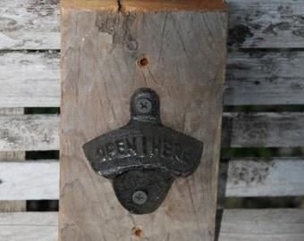 bottle opener wall mount, vintage bottle opener, cast iron bottle opener, man cave, bottle opener, rustic bottle opener, wall decor