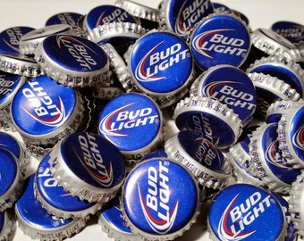 100 Bud Light Recycled Beer Bottle Caps