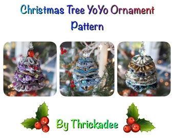 Christmas Tree YoYo Ornament Pattern