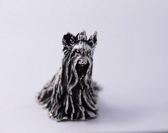 Miniature Yorkshire, Yorkshire Terrier, Yorkshire Dog, Yorkshire sculpture, dogs figurines,