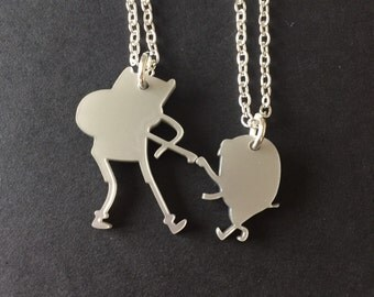Finn and Jake Adventure Time Friendship Necklace Set