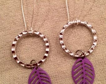 Purple Leaves I See Earrings