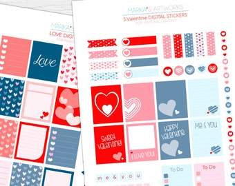 Love Printable Planner Stickers set | INSTANT DOWNLOAD | for planner & organizer