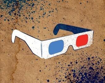 3D Glasses Stencil