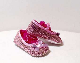 SALE! Beautiful Baby Pink Swarvoski Crystal Shoes