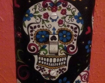 Day of the Dead Sugar Skull Light Switch Cover
