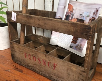 French vintage SNCF wine crate