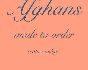 Baby Afghan, Made to Order Afghan, Custom Baby Afghan, Granny Square Afghan, All Color Afghans