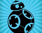 Star Wars BB8 Inspired Cutting Template SVG EPS Silhouette DIY Cricut Vector Instant Download