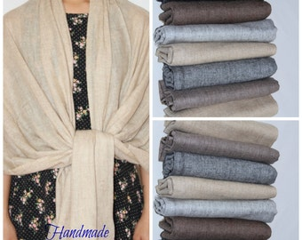 Pure  Nepalese  Cashmere Pashmina  Handmade Shawl Scarf Wrap Natural Coloured