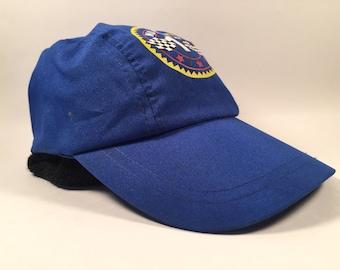 """Vintage Blue """"Number 1"""" Kids Sized Stretchy Hat"""