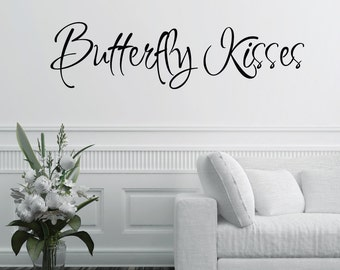 Butterfly Kisses Home Wall Decal Sticker VC0082