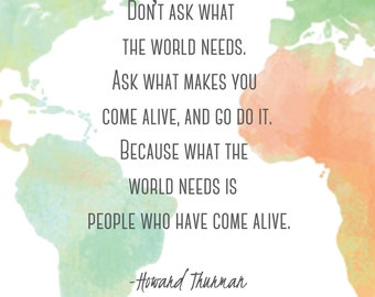 Come Alive World Print