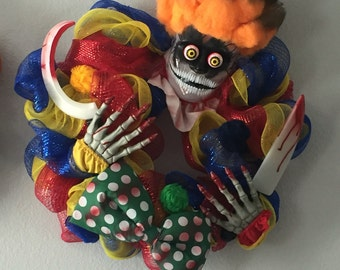 Halloween clown wreath,gift