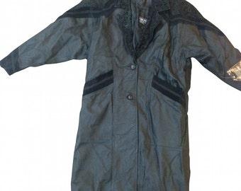 Vintage Leather & Suede Women's Large Jacket